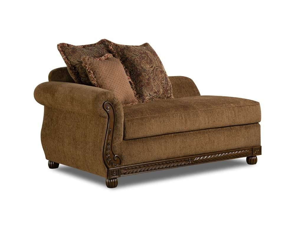 Simmons Upholstery Outback Chaise In Chocolate 8115 08
