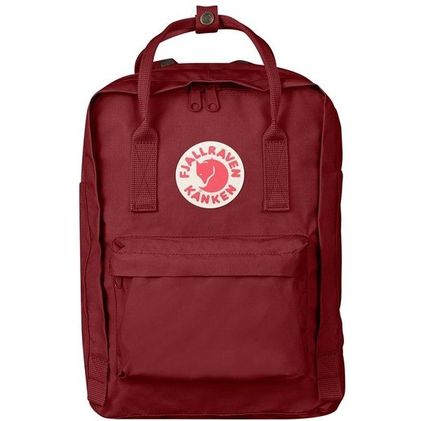 fjallraven 39 kanken 39 laptop backpack 100 liked on polyvore featuring bags backpacks ox red. Black Bedroom Furniture Sets. Home Design Ideas