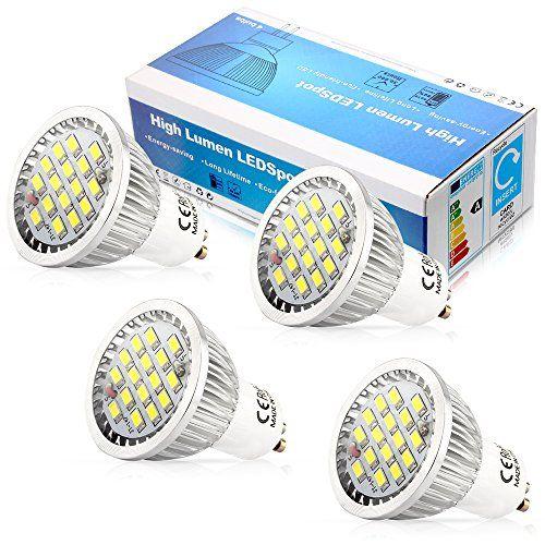 From 9 00 4x Gu10 5 5w Led Energy Saving Light Bulbs 5630