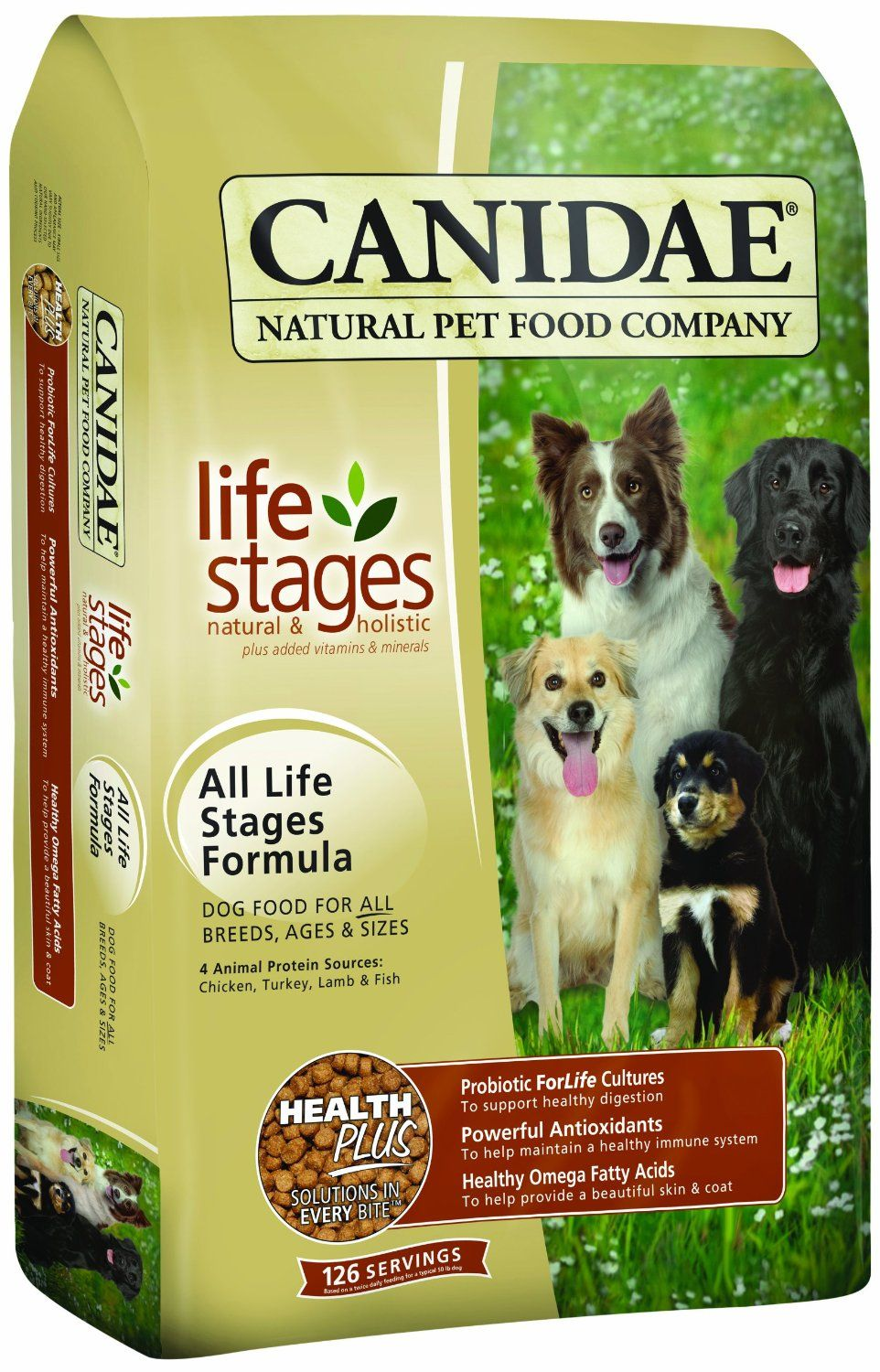 Canidaea Life Stages Dry Dog Food For Puppies Adults And Seniors