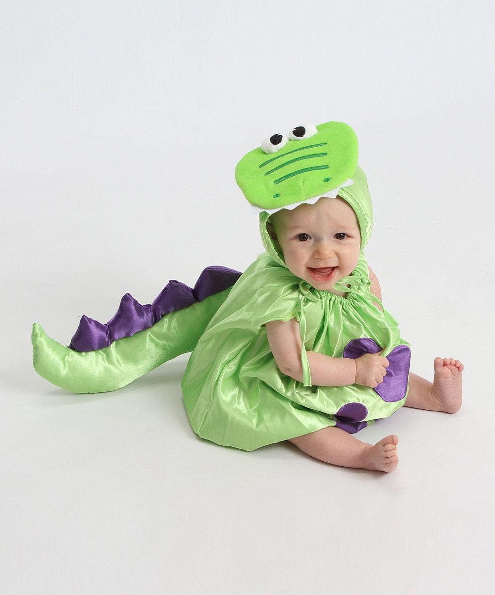 green dinosaur dress-up set - infant | dinosaur dress and infant
