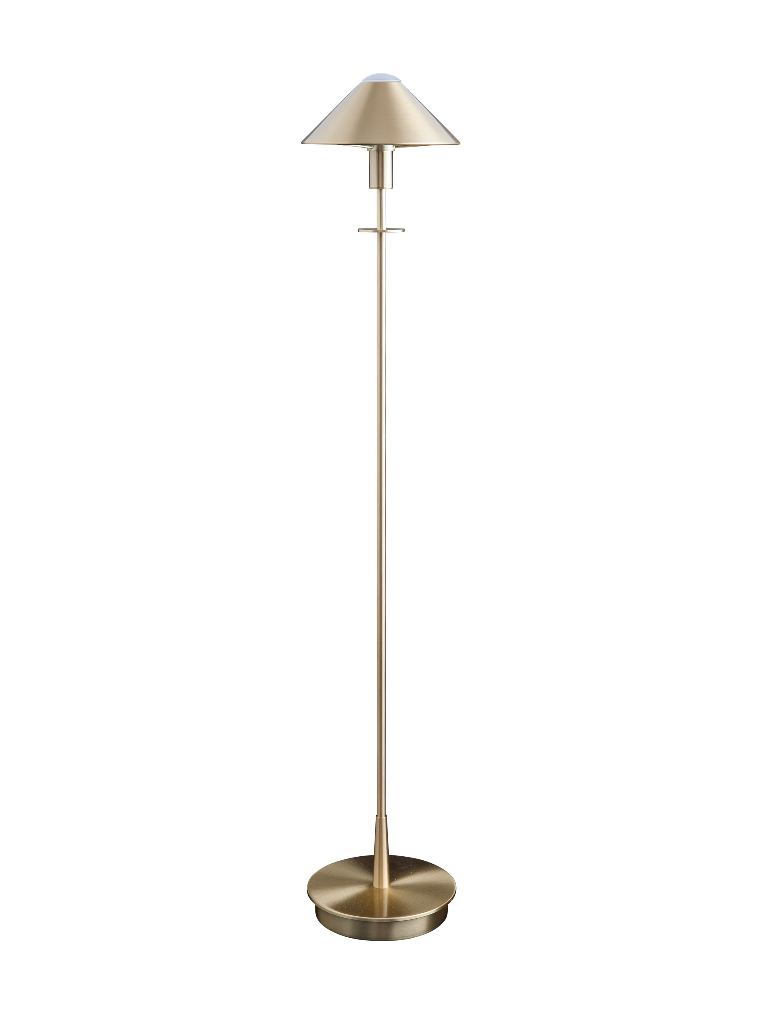 Brushed Brass Floor Lamp With Dimmer Rod With Images Brass