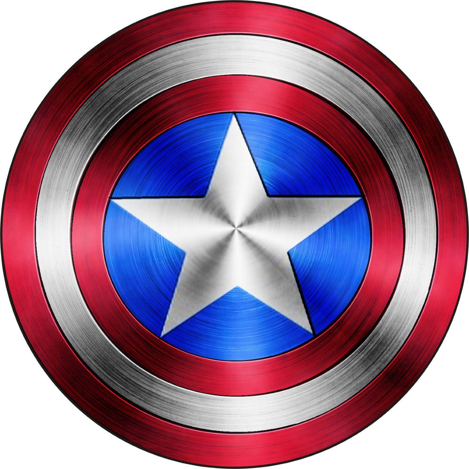 Captain America Shield Logo Comic Superhero Vinyl Decal Sticker