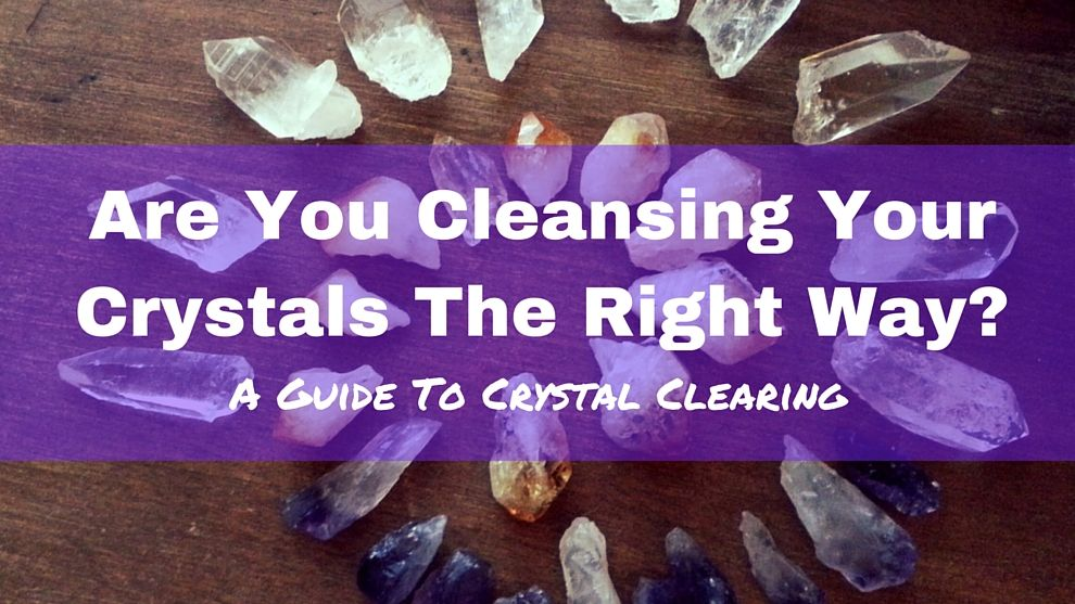 how to cleanse and charge crystals with sage