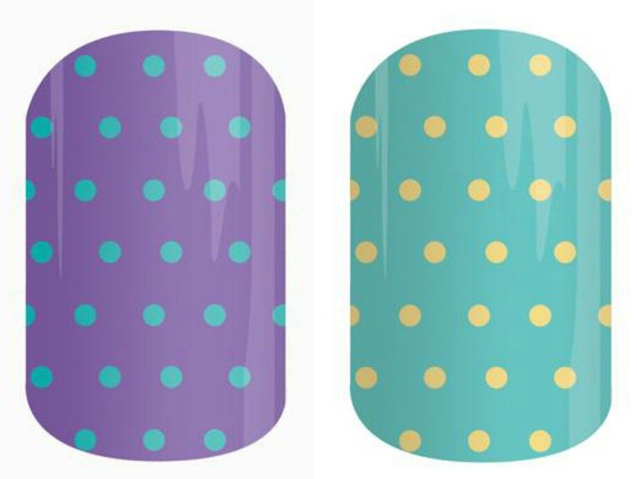 Purple mini polka or teal mini polka! hollybrandt.jamberrynails.net