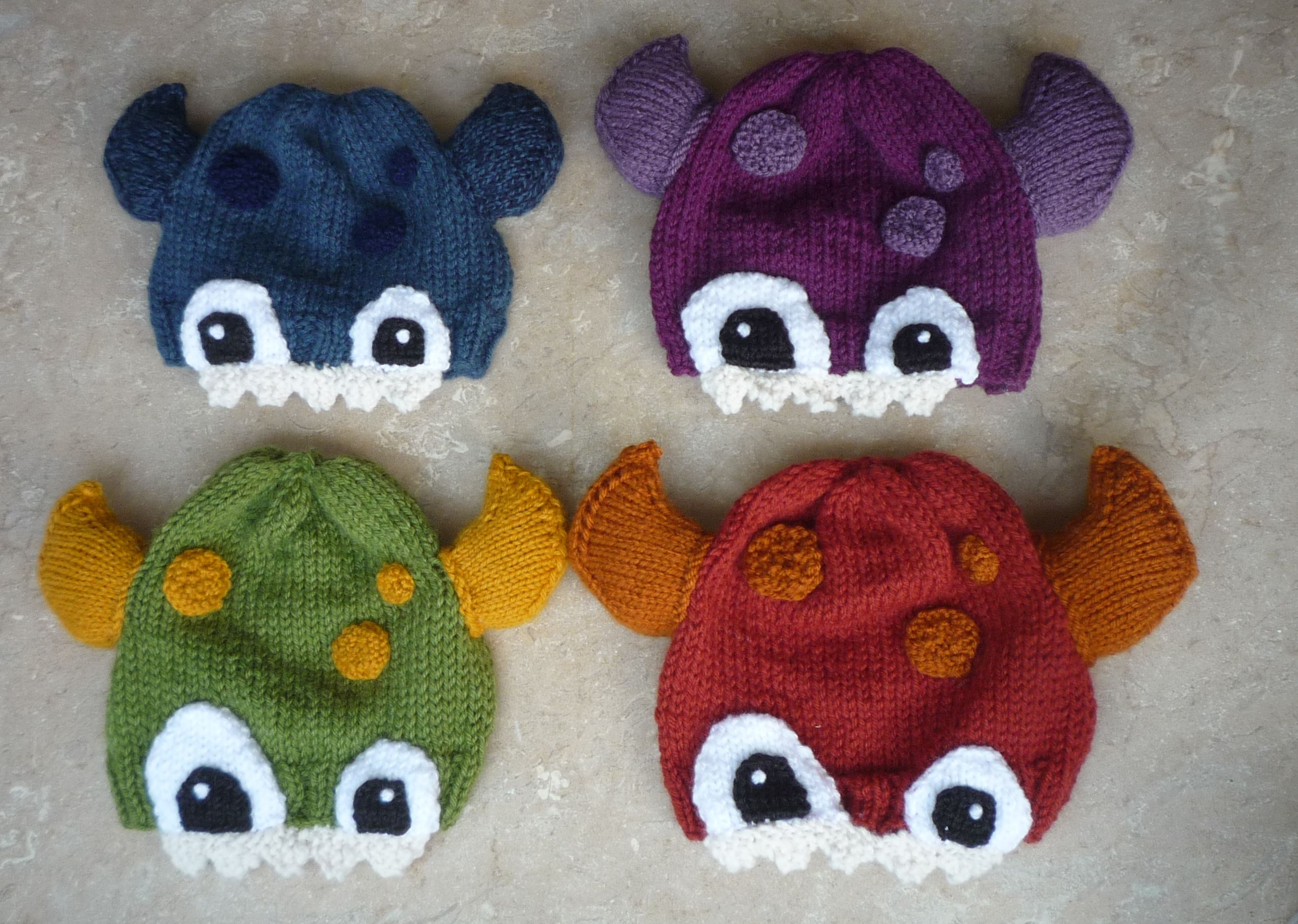 Knitted monster hats ropita pinterest monster hat monsters