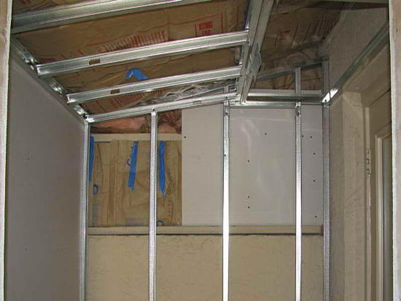 how to build steel stud walls