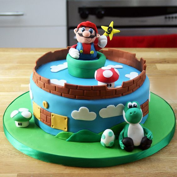 Super Mario Cake Ideas Tutorial Decoracion de bizcochos
