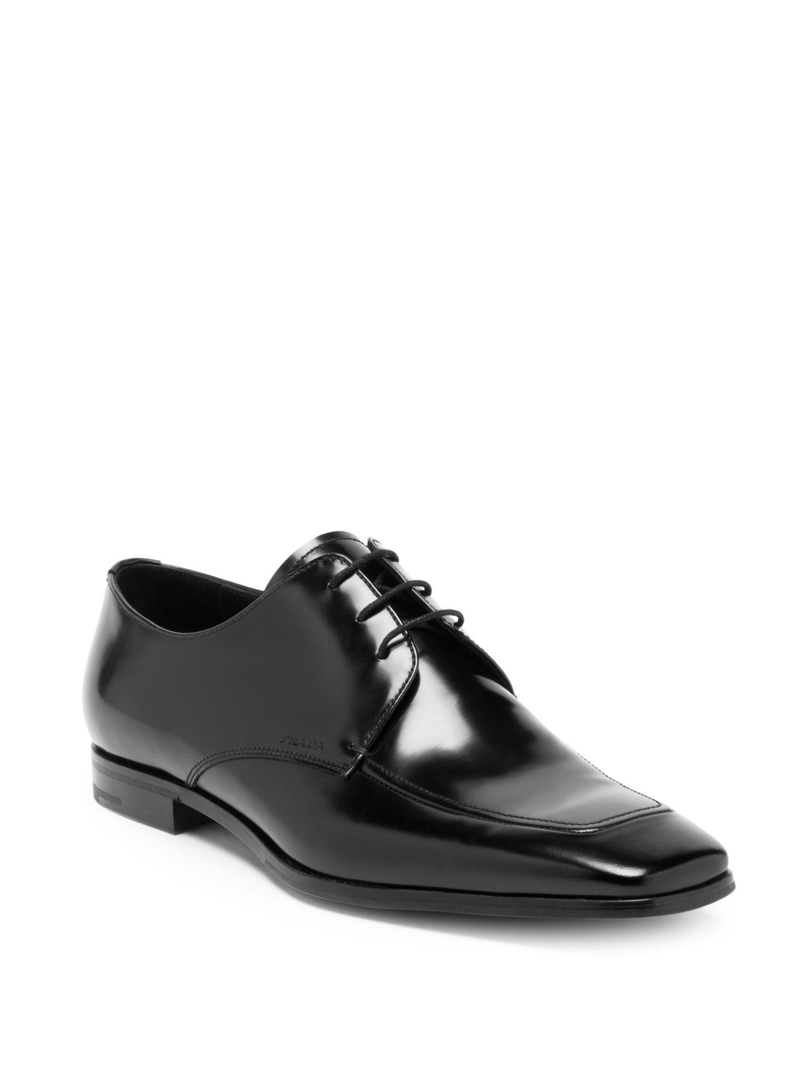 PradaSpazzolato Fume Leather Loafers AX6iqv
