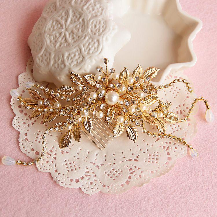 星風尚沛蝶韓式新娘金色頭飾發飾發梳婚紗影樓造型配飾結婚飾品-淘寶台灣,萬能的淘寶