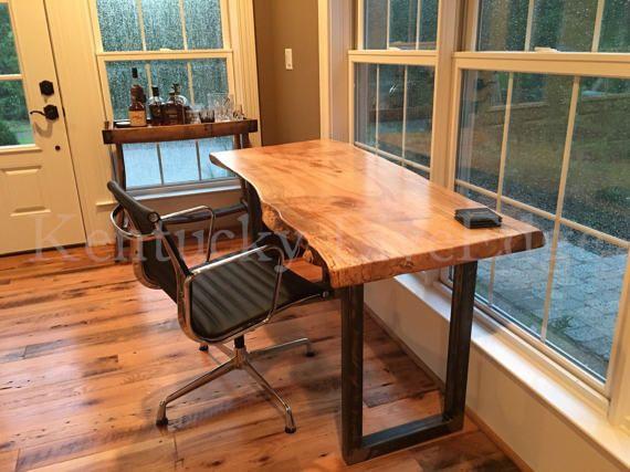 Your Custom Desk Live Edge Desk Industrial Desk Rustic Desk