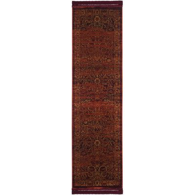 Bungalow Rose Zennia Ruby / Gold Area Rug Rug Size: