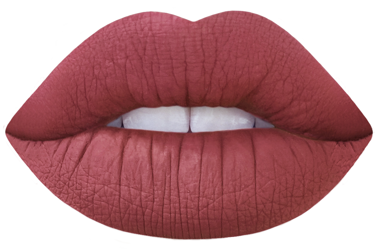'Riot' (redbrown) limecrime velvetine lipstick