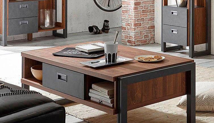 Home affaire Couchtisch »Detroit«, Breite 113 cm, im angesagten - industrial look wohnzimmer