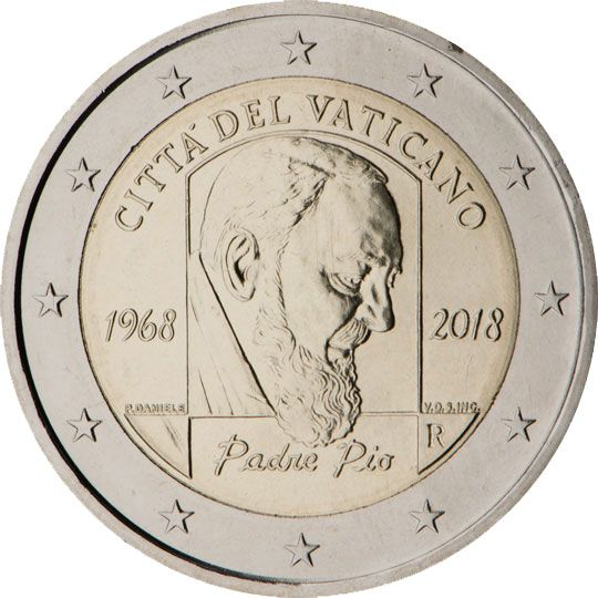 2 Commemorative Coins 2018 Monete Banconota Filatelia