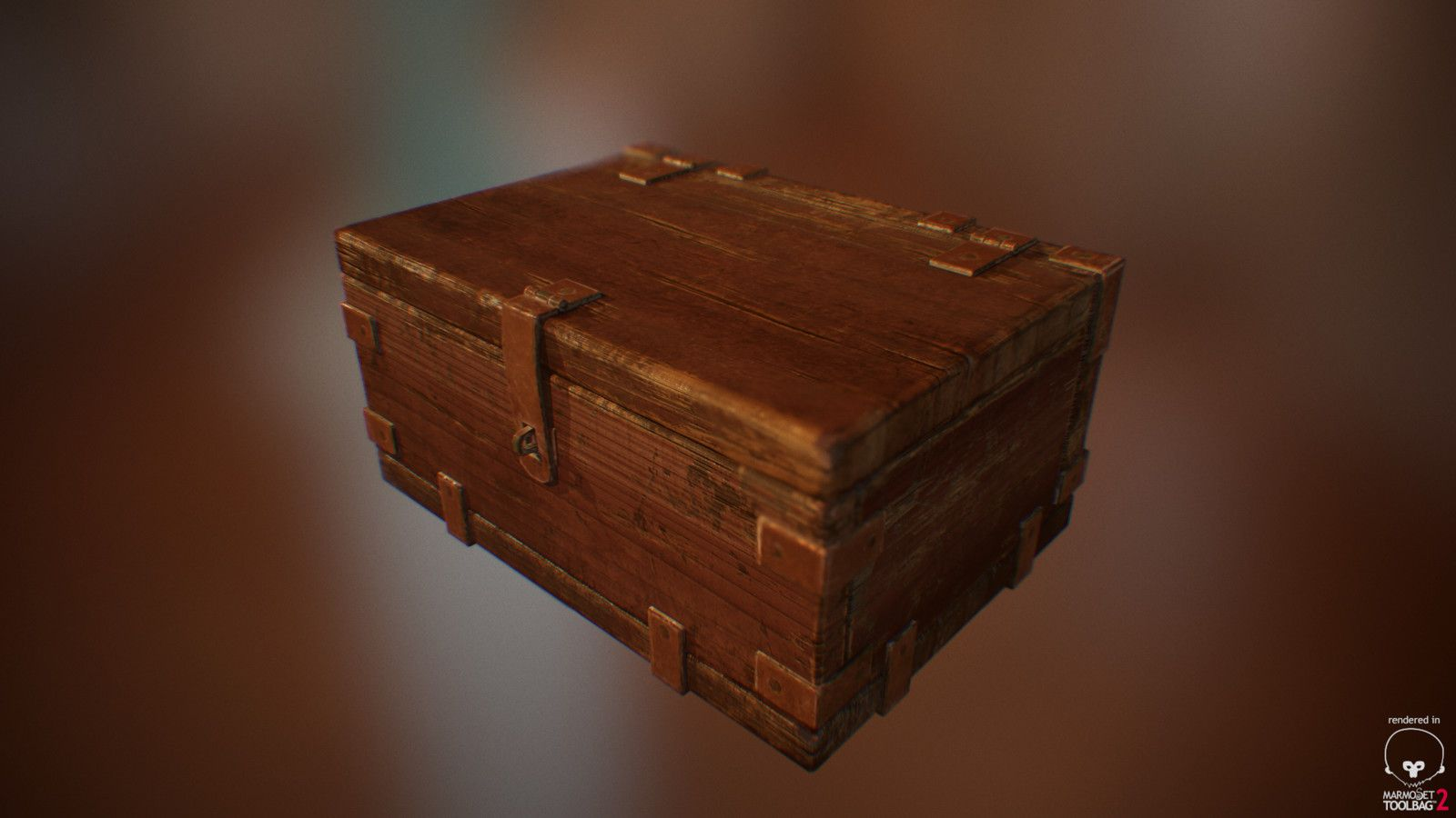 Old Wooden Box, Malik Fernandez on ArtStation at https://www.artstation.com/artwork/VLwwb