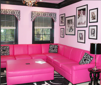 Movies anyone? | Teen Spaces | Pinterest | Pink couch, Girl cave and ...
