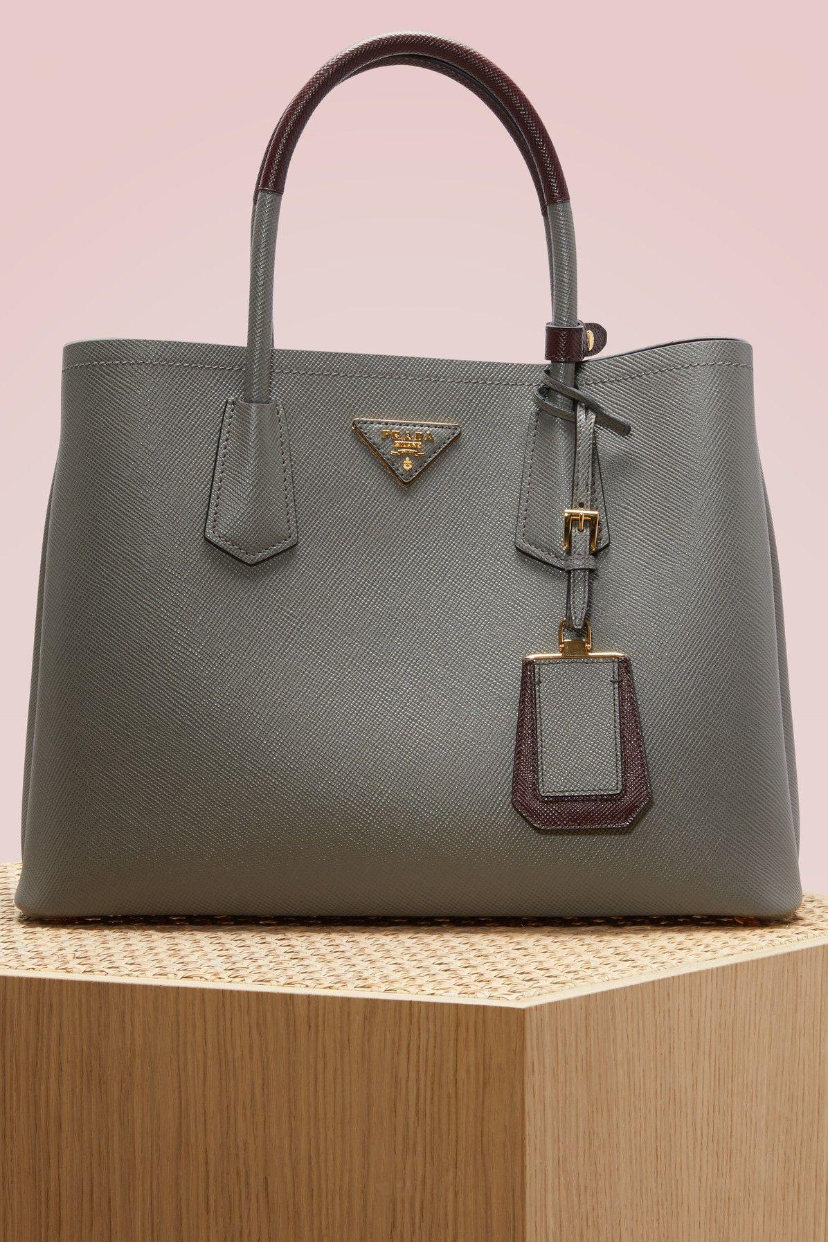 Prada Bicolore Handbag Bags Shoulder Hand Leather Pouch Accessories