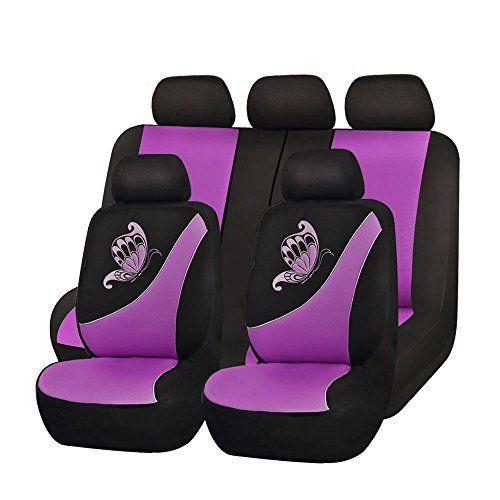 Flying Banner Purple Mesh Seat Cover For Trucks Universal Seat