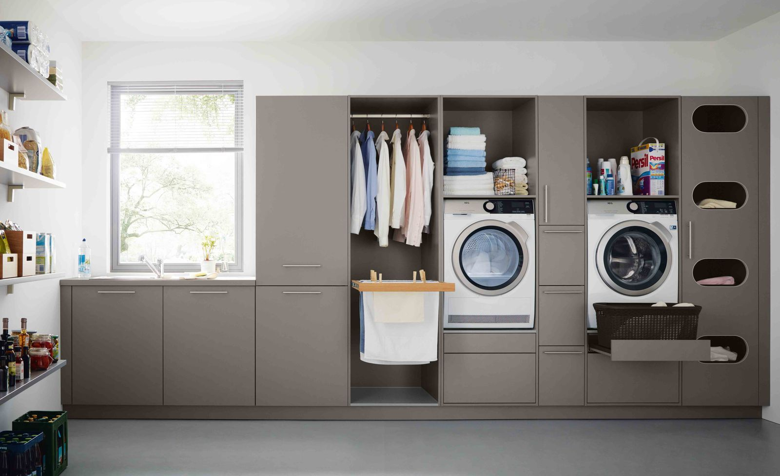 Make Everyday Tasks Simple With These Utility Room Storage Ideas Utility Room Storage Laundry Room Storage Basement Laundry Room
