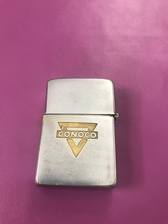1950s Zippo Lighter 2517191 Conoco Ad Fair Condition Used Etsy Zippo Lighter Zippo Lighter