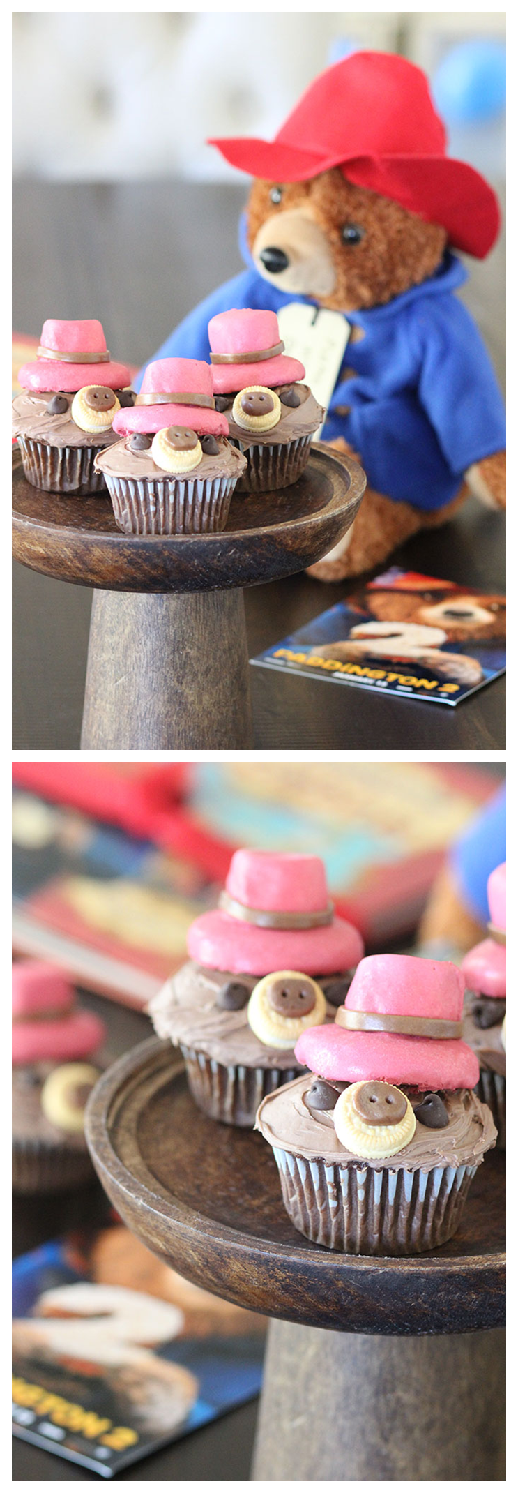 Enjoy these chocolate cupcakes with our sweet, lovable Paddington! @dawnchats | Paddington 2 - in theaters now