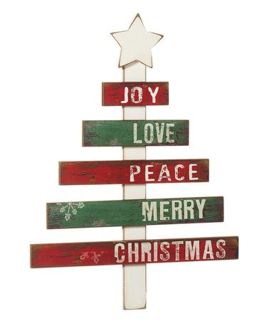 Look at this #zulilyfind! Sign Post Christmas Tree Wall Sign