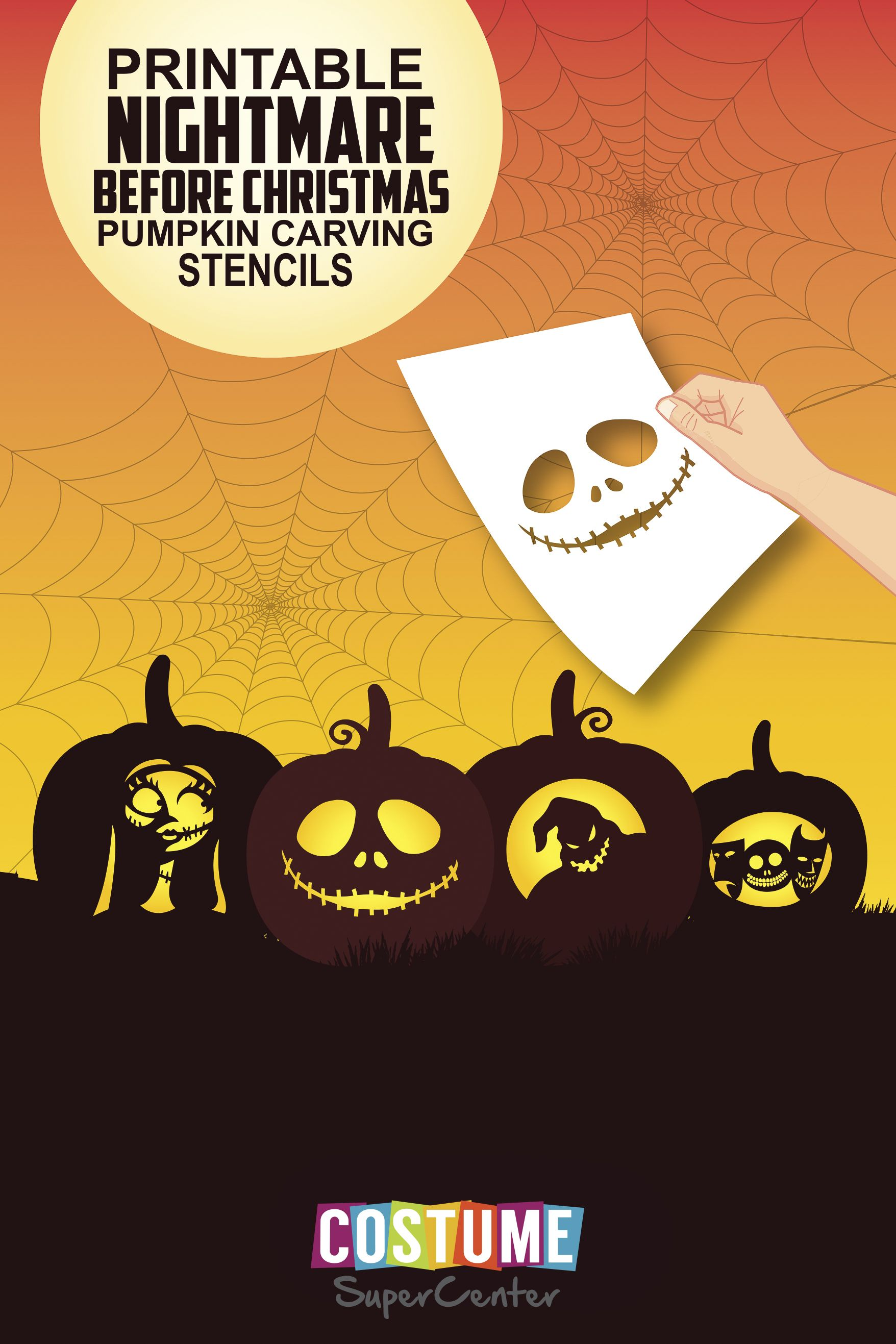 Nightmare Before Christmas Pumpkin Carving Stencils | Home projects ...