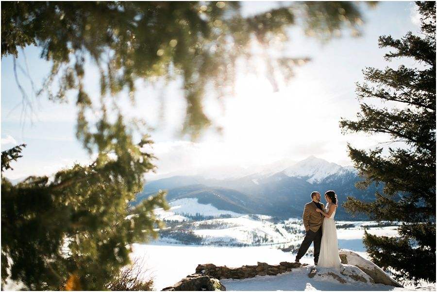 Breckenridge winter wedding // Winter Elopement at Sapphire Point  www.kelseybooth.com Kelsey Booth Photography