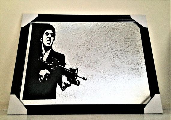 Scarface Mirror Scarface Tony Montana Framed Wall Picture Mirror ...