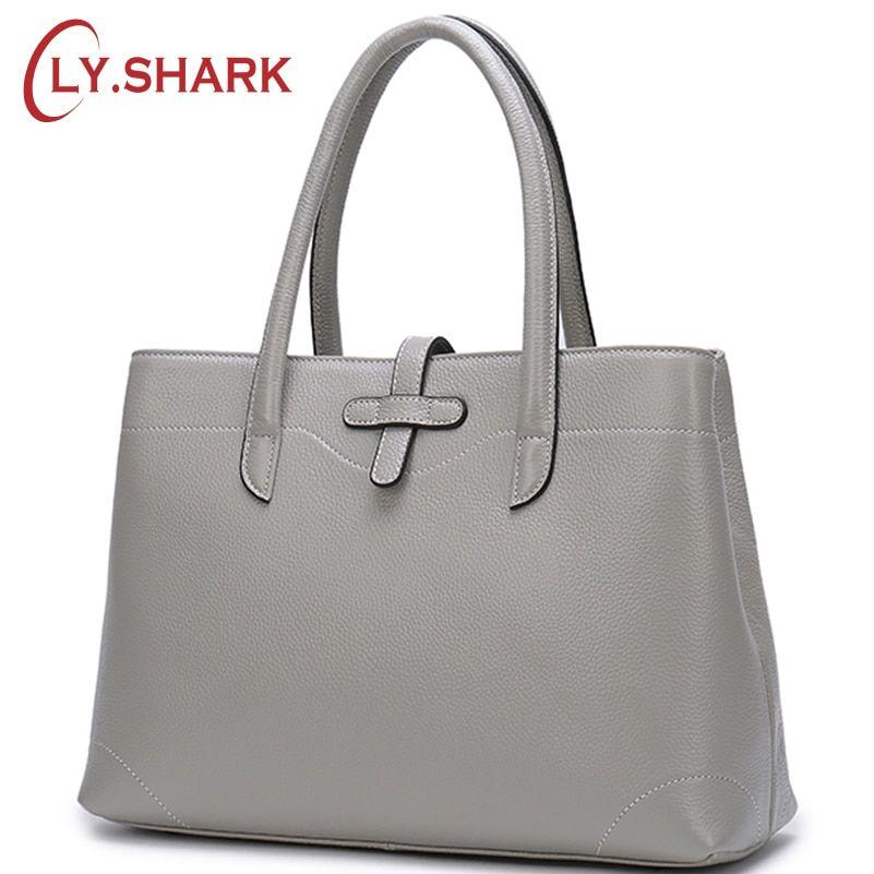 c4494b47323 LY.SHARK Bags For Women 2018 Genuine Leather Bag Female Handbag ...