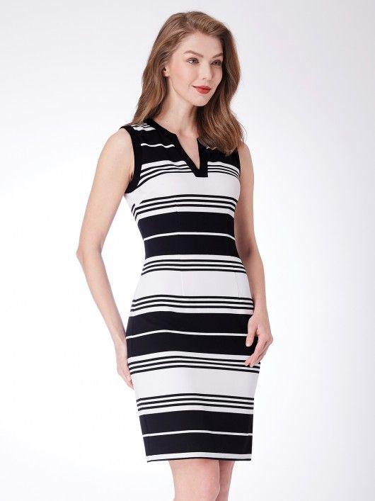c55ee1c2ae92d Alisa Pan Striped Sheath Dress  casualdress  everprettycom  EverPretty