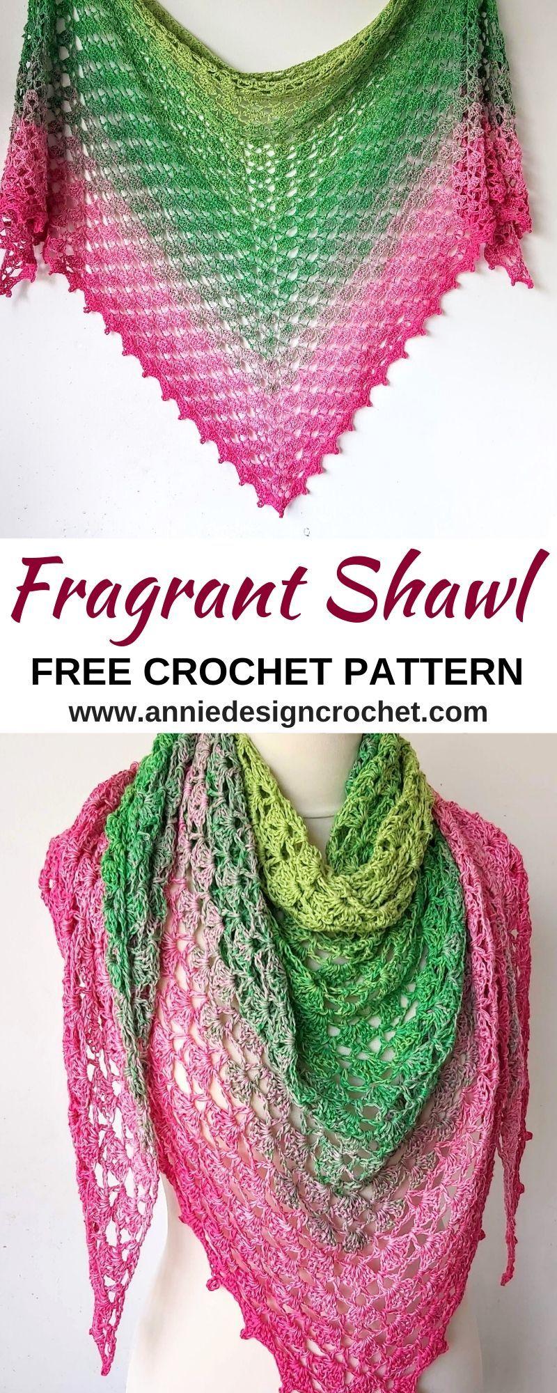 Crochet Shawl with Shells Pattern