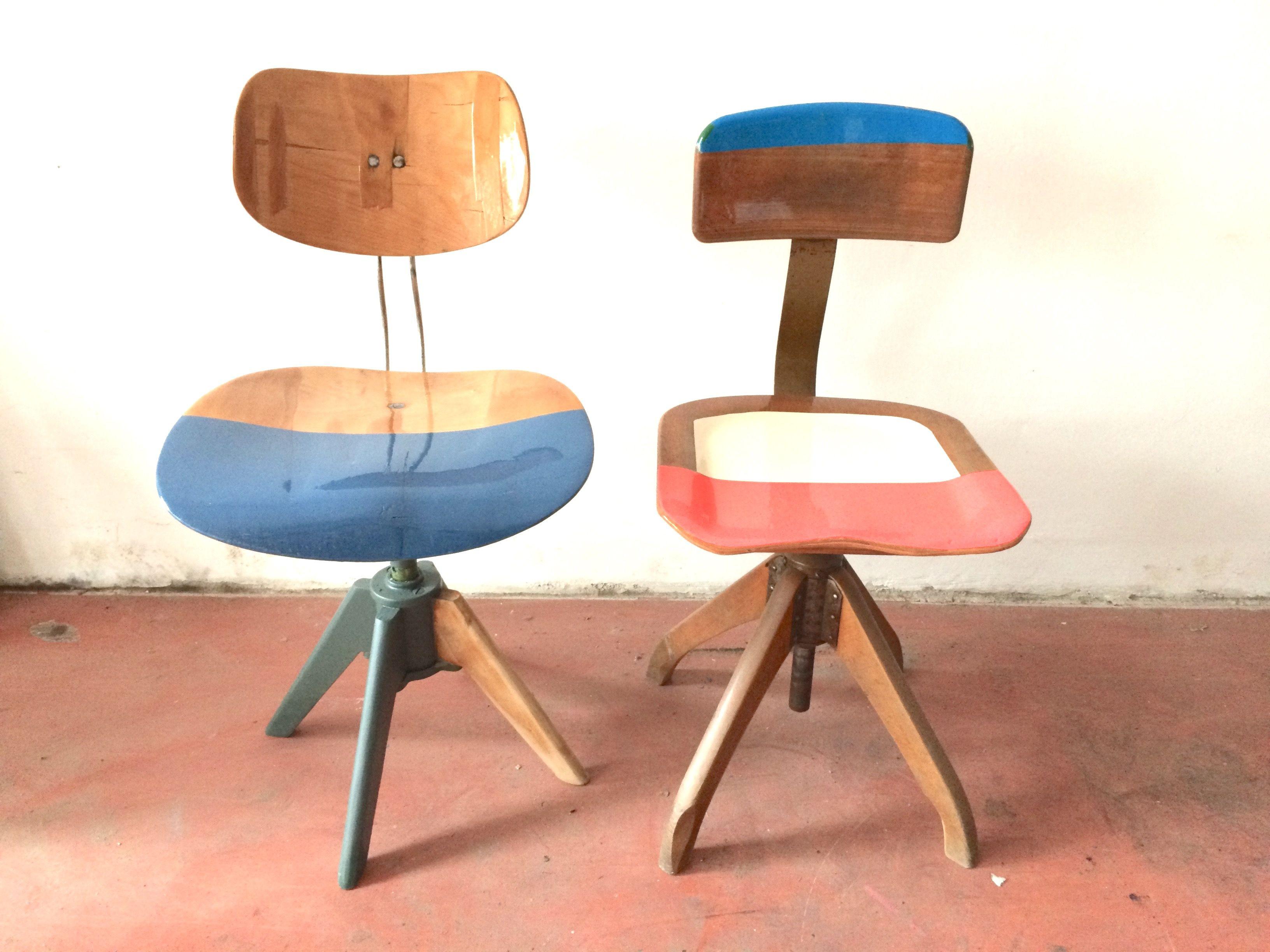 Eiermann Bauhaus Work Chairs Redone
