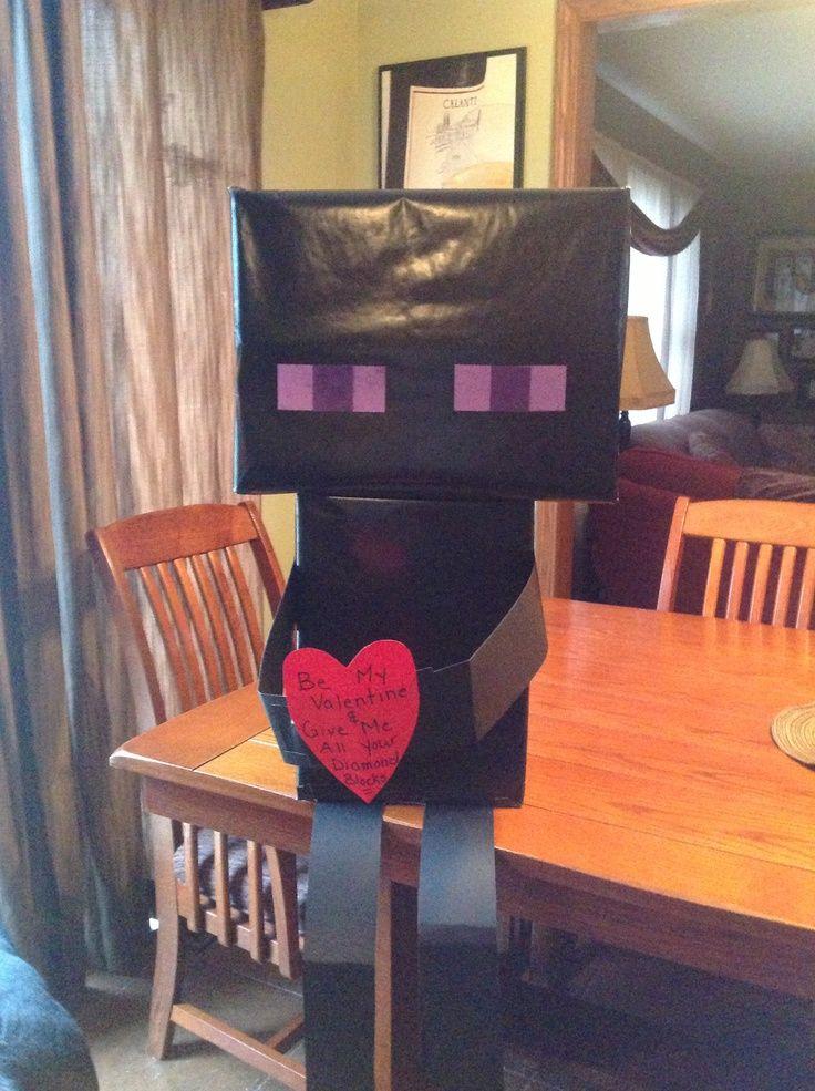 Perfekt Minecraft Enderman Valentine Box