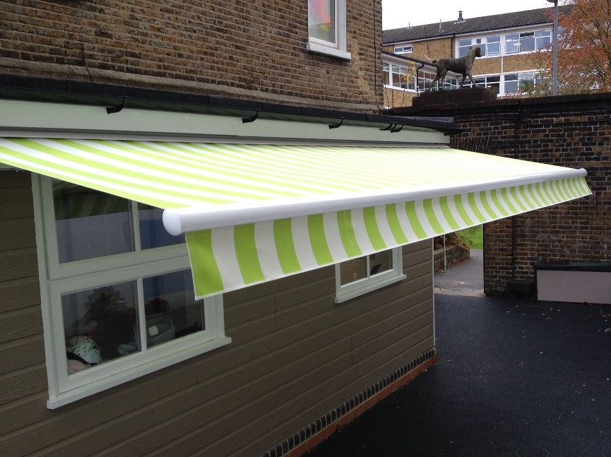 Fantastic Pvc Striped Fabric Offering Shade Inside And Shelter Outside By Deans Blinds Awnings Awning Shade Blinds Awning