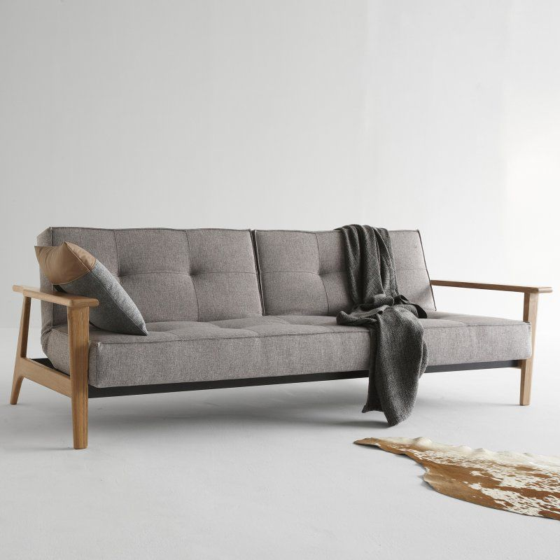Innovation Living Split Back Fabric Convertible Sofa