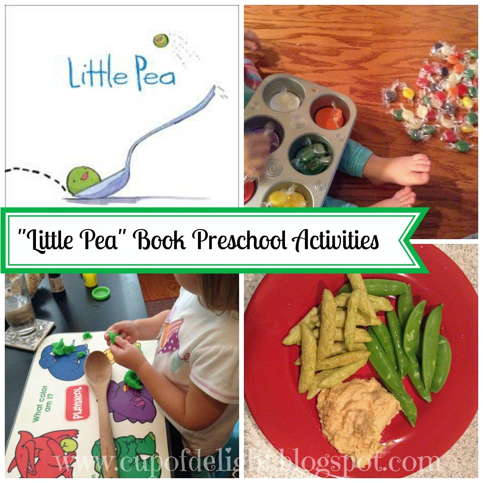 """Cup of Delight: """"Little Pea"""" Book Preschool Activities (Free Printable)"""