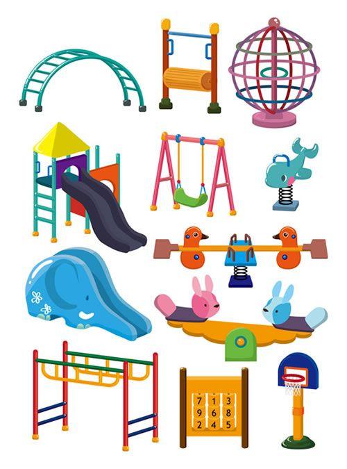 Parque Infantil En Vector Parques Infantiles Dibujos Para Ninos Parque Dibujo