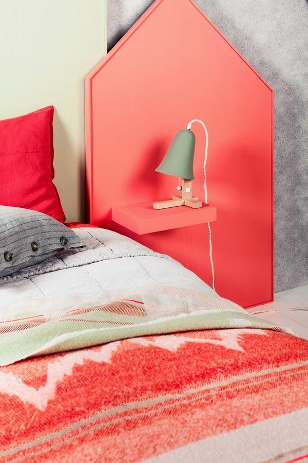 Diy une t te de lit et sa table de nuit incorpor e diy pinterest lit table de nuit et - Tete de lit table de nuit ...