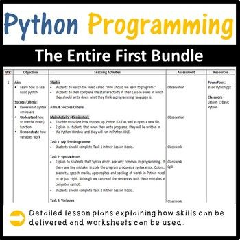 Photo of Python Programming Coding – The Ultimate Lesson Plans Bundle (Save $20)
