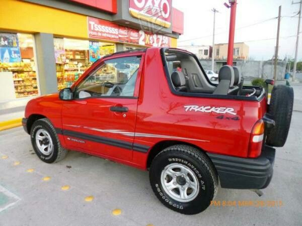 Wildfire Red Convertible Chevy Tracker Chevrolet Geo Twilight Offroad