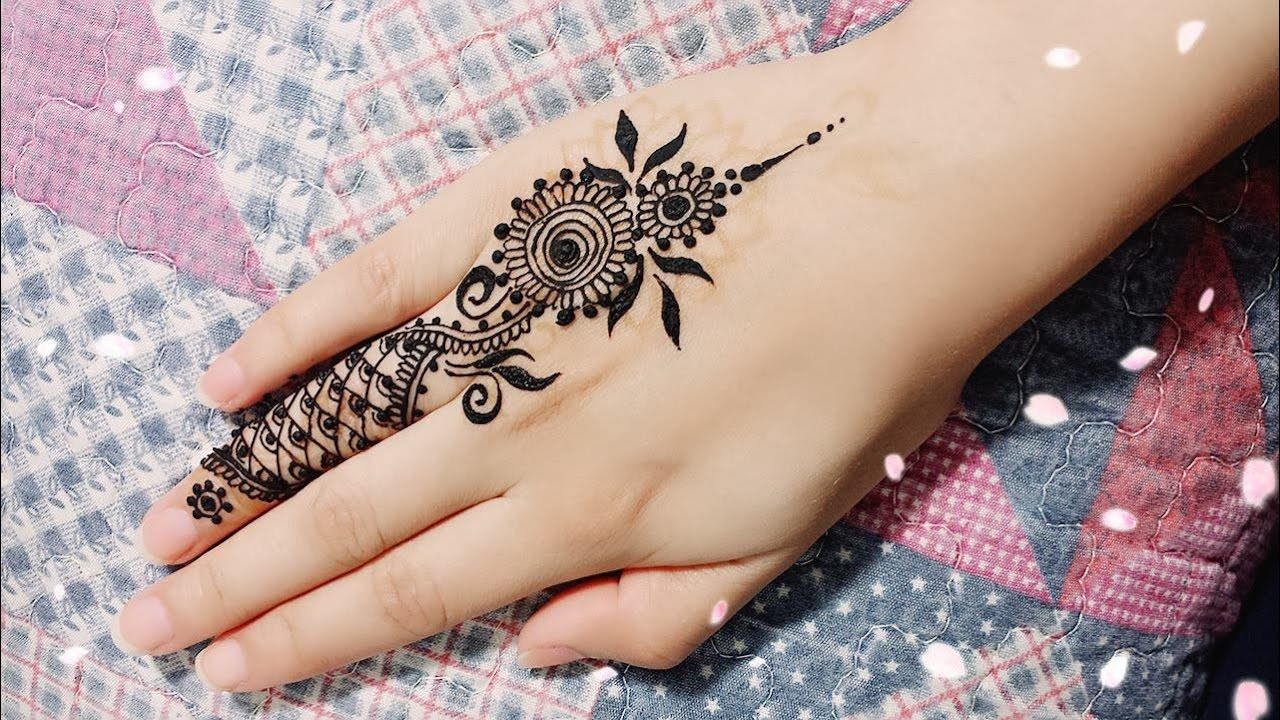 Diy Easy Mehendi Design For Fingers Henna Temporary Tattoo