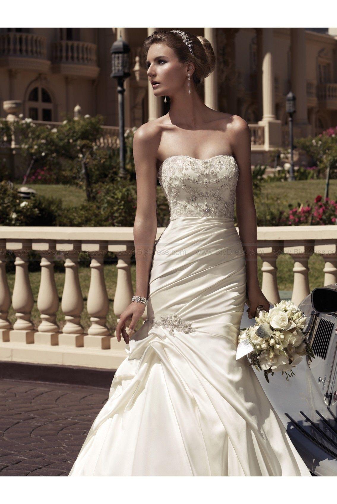 Dazzling Mermaid Bridal Dress With Pick Ups By Casablanca
