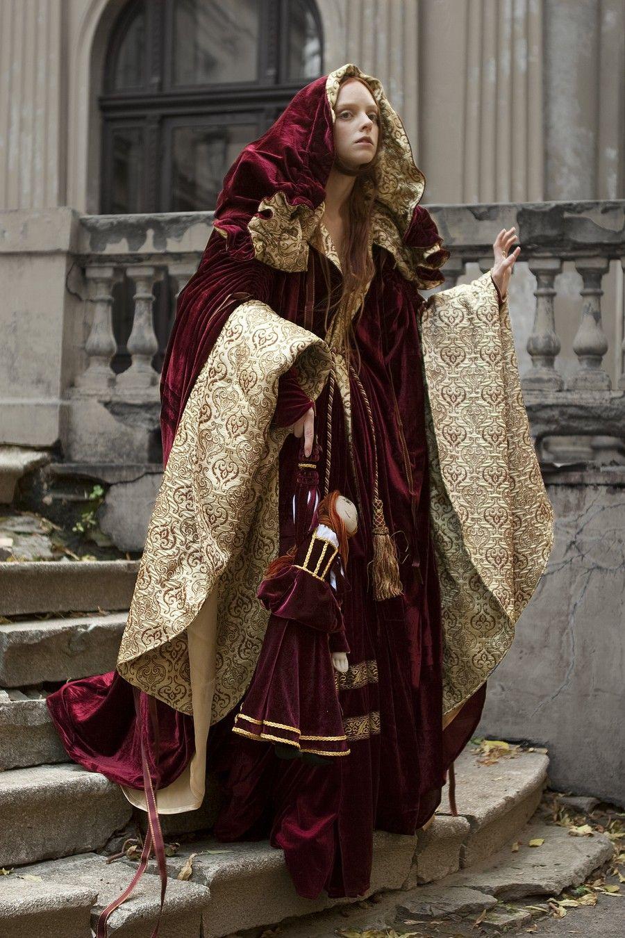 Renaissance Nobility Velvet Cloak - medieval velvet cape