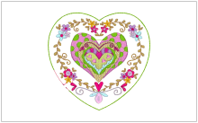 Amazing Valentine Heart Design free baby embroidery ideas for thirty one gifts