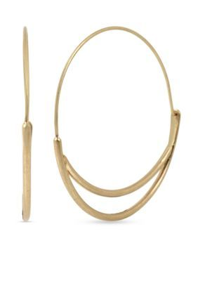 Kenneth Cole  Gold-Tone Coral Canyon Hoop Earrings