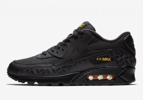 89c97c7cb2 #Nike #AirMax 90 Black Black Amarillo Yellow BQ4685 001 Mens Trainer Size  8-13