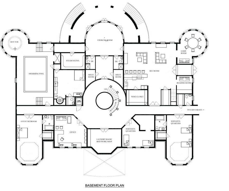 A hotr reader s revised floor plans to a 17 000 square for Mansion house design