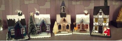 What I did today: A New Housing Scheme IMBY. Or on my mantelpiece. Tim Holtz Village Dwelling die